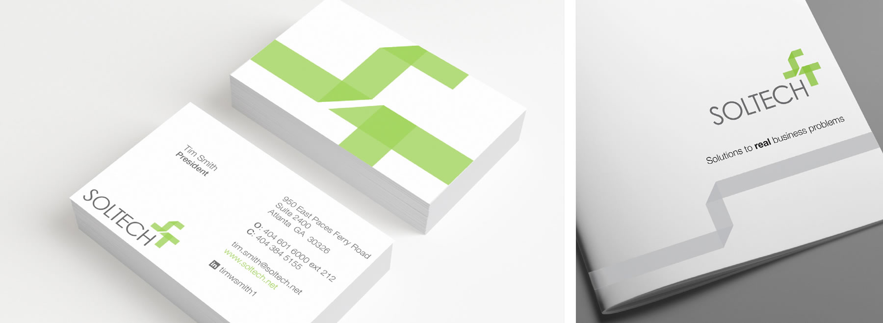 SolTech Business Cards and Letterhead