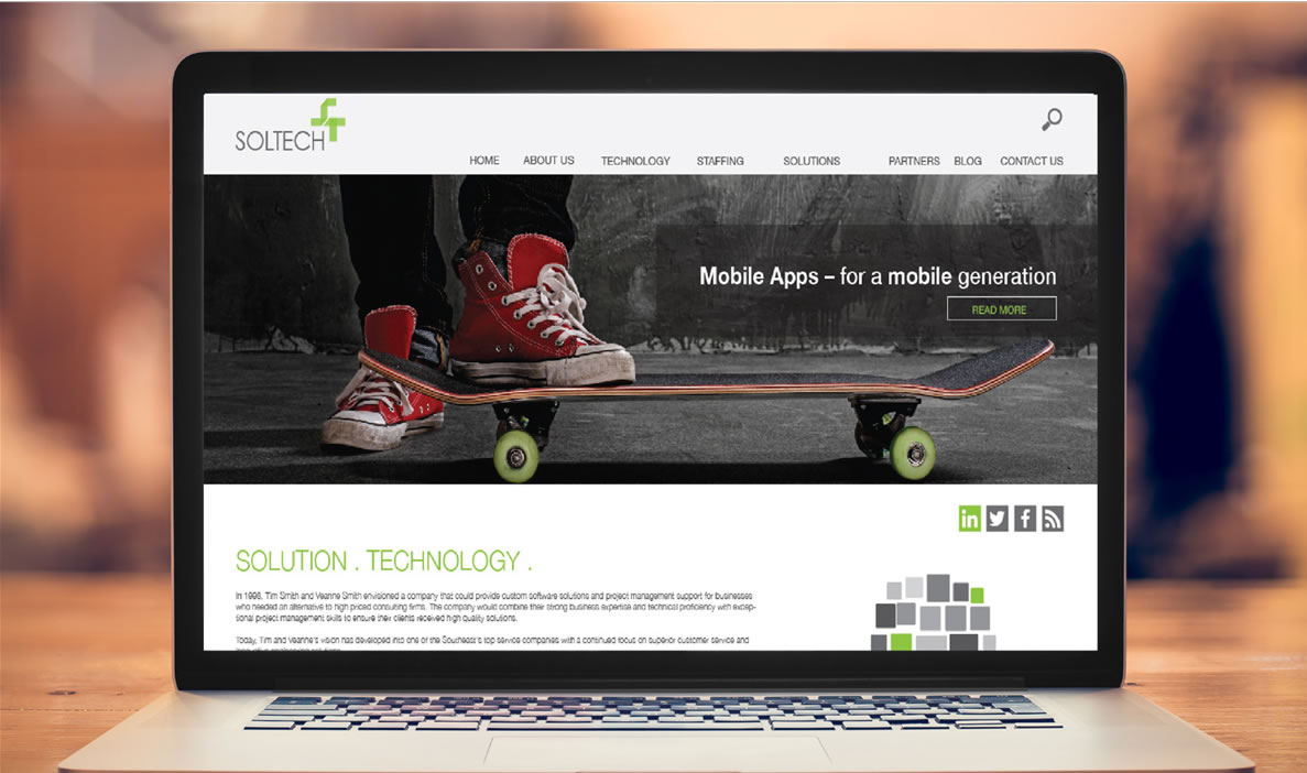 SolTech Website View